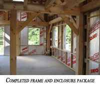 A completed frame and enclosure package