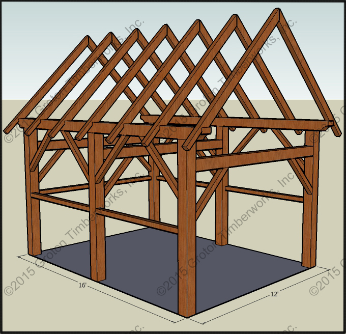 Free cabin plans with loft and porch 18 x 24 joy studio for 18 x 24 shed plans