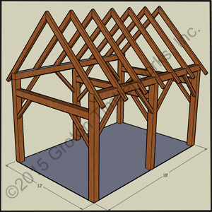Timberframe sheds garages groton timberworks for 18 x 24 shed plans