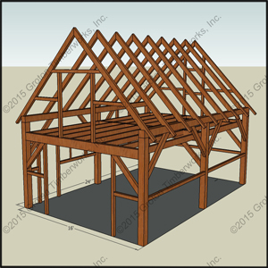 Storage building shed blueprints 16x24 for 16x24 shed plans free
